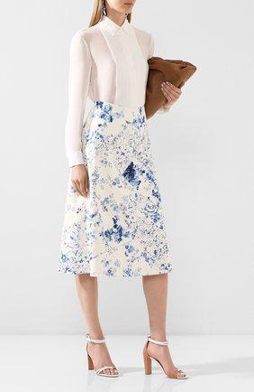 Женская кожаная юбка RALPH LAUREN белого цвета, арт. 290799300 | Фото 2