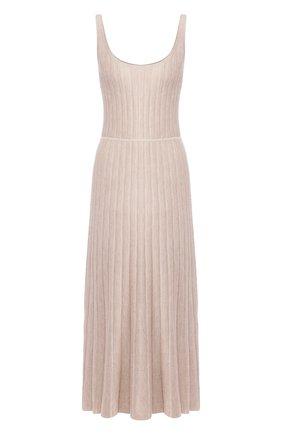 Женское платье из смеси кашемира и шелка GABRIELA HEARST бежевого цвета, арт. 220925/A003/S | Фото 1