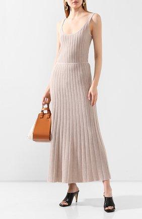 Женское платье из смеси кашемира и шелка GABRIELA HEARST бежевого цвета, арт. 220925/A003/S | Фото 2