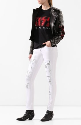 Женская хлопковая футболка PHILIPP PLEIN черного цвета, арт. P20C WTK2025 PTE003N | Фото 2