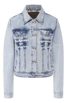 Женская джинсовая куртка PHILIPP PLEIN голубого цвета, арт. P20C WDB0388 PDE004N | Фото 1