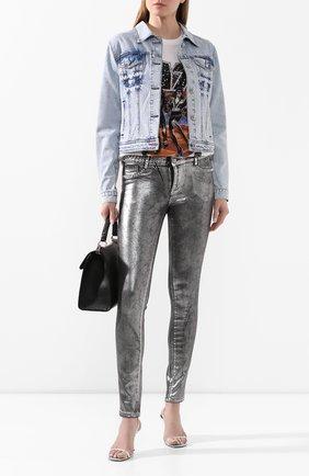 Женская джинсовая куртка PHILIPP PLEIN голубого цвета, арт. P20C WDB0388 PDE004N | Фото 2