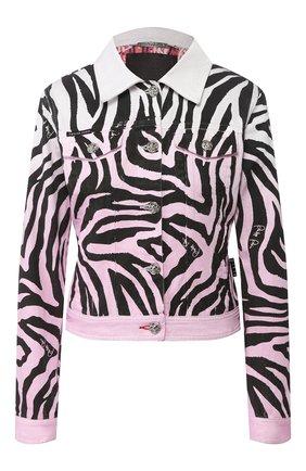 Женская джинсовая куртка PHILIPP PLEIN белого цвета, арт. P20C WDB0381 PDE004N | Фото 1