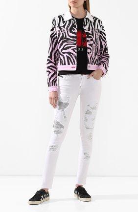 Женская джинсовая куртка PHILIPP PLEIN белого цвета, арт. P20C WDB0381 PDE004N | Фото 2