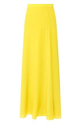 Женская шелковая юбка THEORY желтого цвета, арт. K0402301 | Фото 1