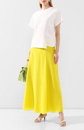 Женская шелковая юбка THEORY желтого цвета, арт. K0402301 | Фото 2