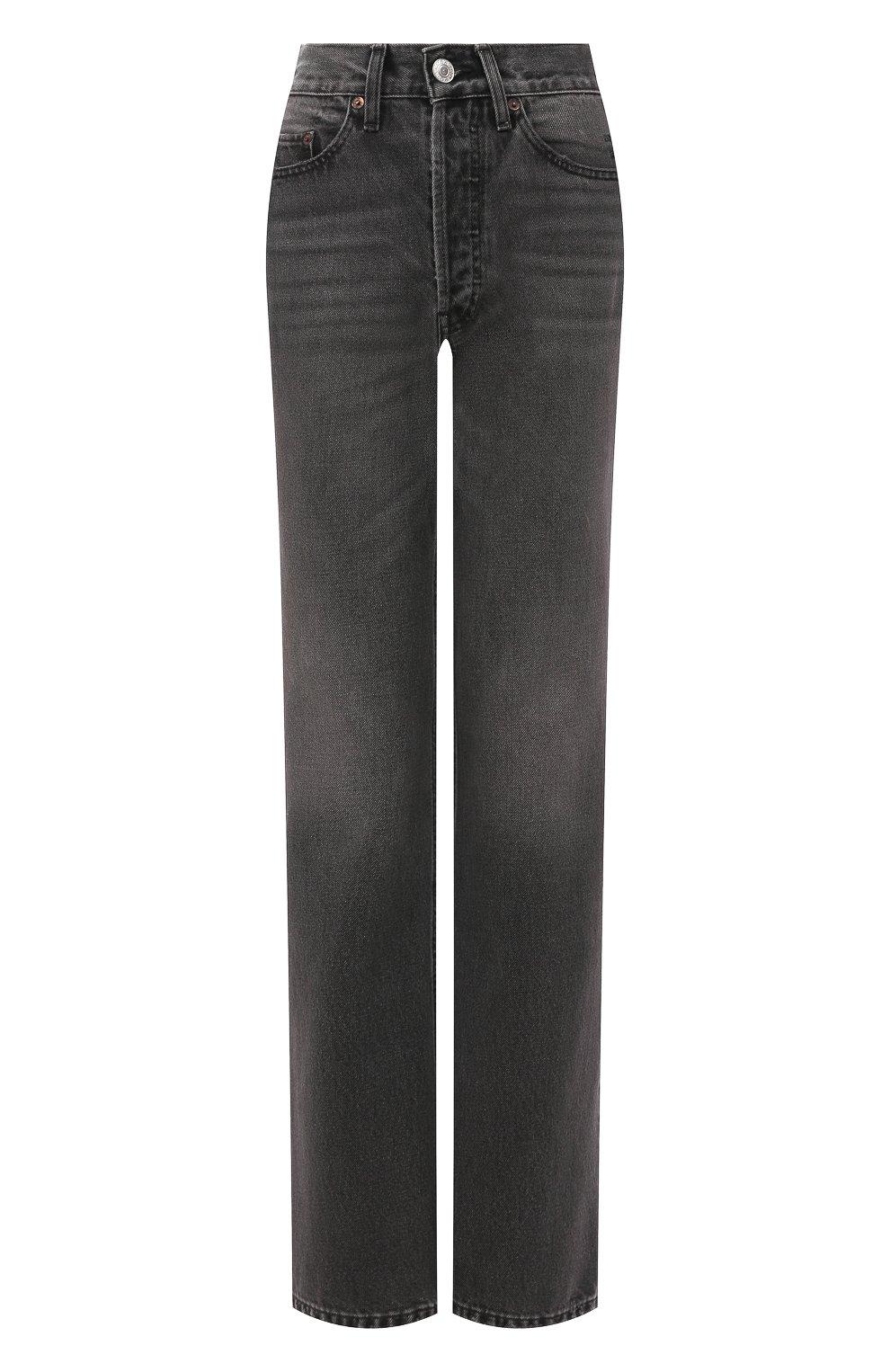 Женские джинсы RE/DONE черного цвета, арт. 166-3W7BC/BLACK 2   Фото 1