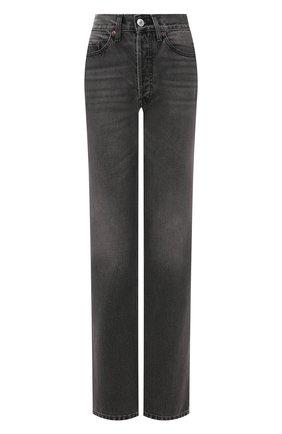 Женские джинсы RE/DONE черного цвета, арт. 166-3W7BC/BLACK 2 | Фото 1