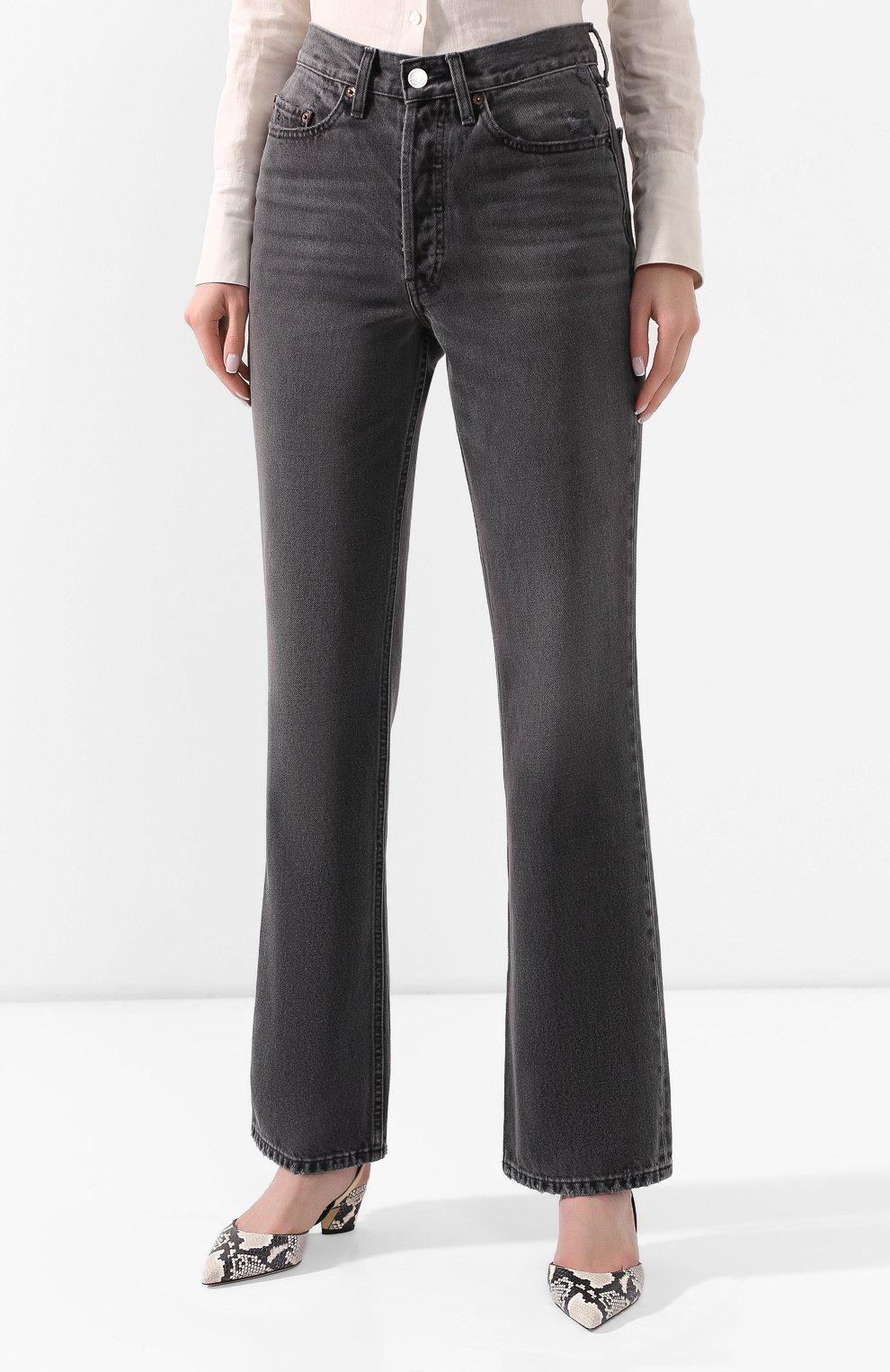Женские джинсы RE/DONE черного цвета, арт. 166-3W7BC/BLACK 2   Фото 3