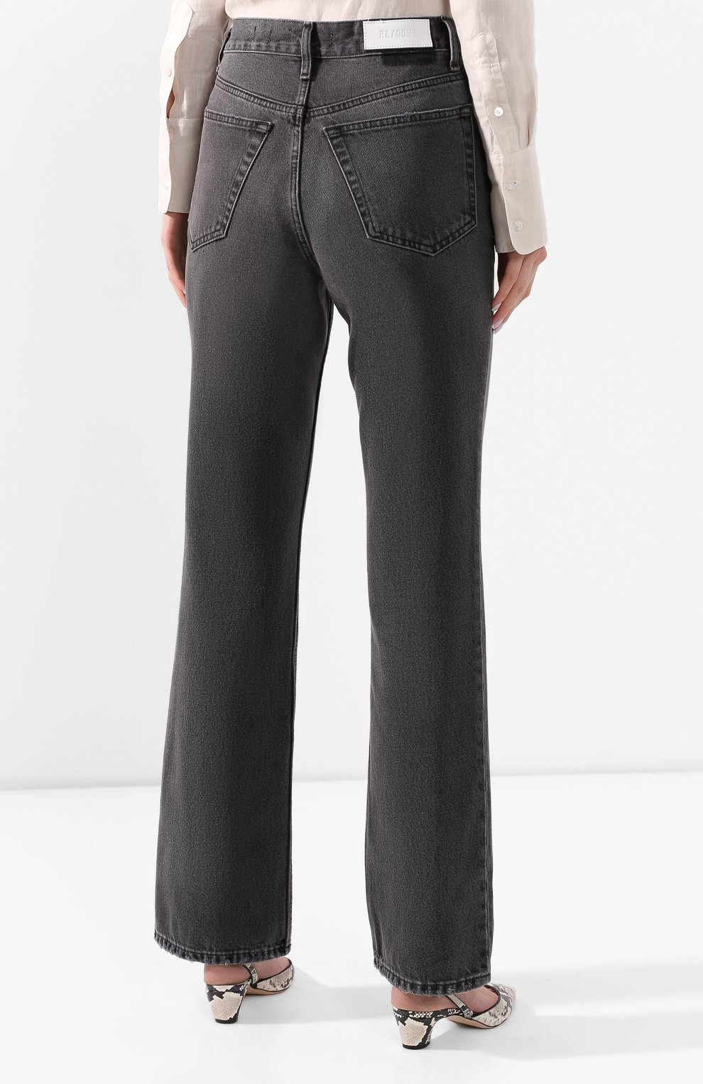 Женские джинсы RE/DONE черного цвета, арт. 166-3W7BC/BLACK 2   Фото 4