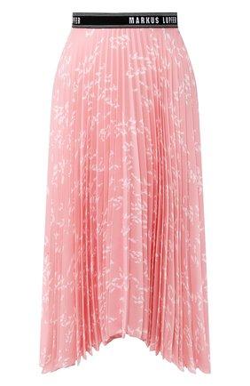 Женская плиссированная юбка MARKUS LUPFER розового цвета, арт. SK469 | Фото 1