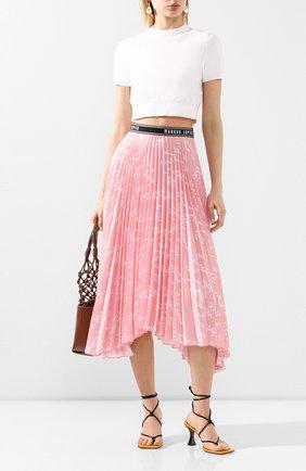 Женская плиссированная юбка MARKUS LUPFER розового цвета, арт. SK469 | Фото 2