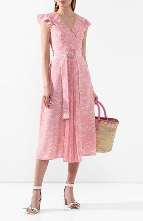 Женское платье MARKUS LUPFER розового цвета, арт. DR1128 | Фото 2