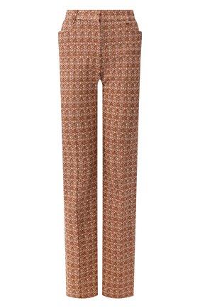 Женские хлопковые брюки VICTORIA BECKHAM коричневого цвета, арт. 1220WTR001175G | Фото 1