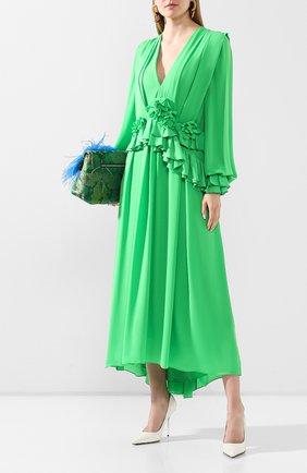 Женское платье VICTORIA BECKHAM зеленого цвета, арт. 1220WDR001315C | Фото 2