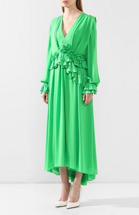 Женское платье VICTORIA BECKHAM зеленого цвета, арт. 1220WDR001315C | Фото 3