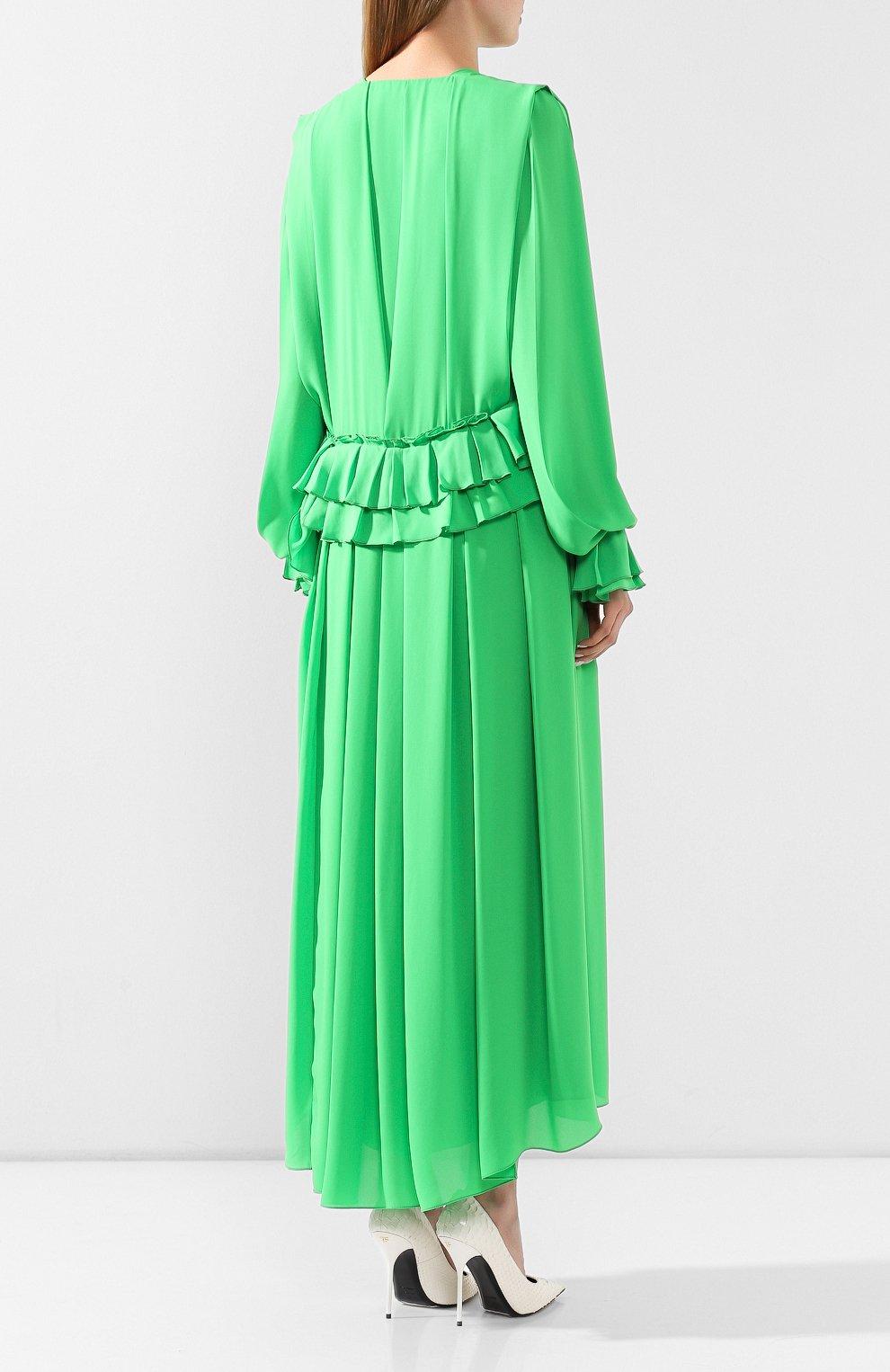 Женское платье VICTORIA BECKHAM зеленого цвета, арт. 1220WDR001315C | Фото 4