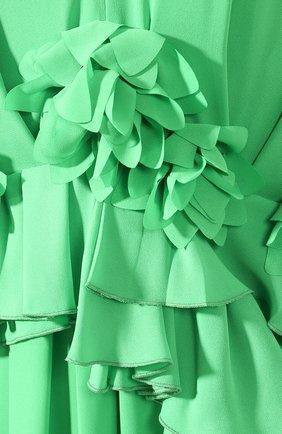 Женское платье VICTORIA BECKHAM зеленого цвета, арт. 1220WDR001315C | Фото 5