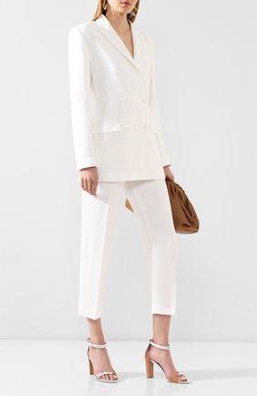 Женские брюки ALEXANDER TEREKHOV белого цвета, арт. P145/4404.100/DS20 | Фото 2
