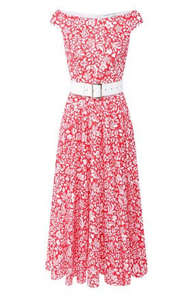 Женское хлопковое платье ALEXANDER TEREKHOV красного цвета, арт. D1240/3819.PF610/S20 | Фото 1
