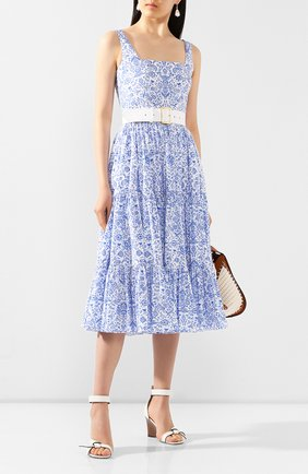 Женское хлопковое платье ALEXANDER TEREKHOV синего цвета, арт. D1249/3819.PC140/S20 | Фото 2