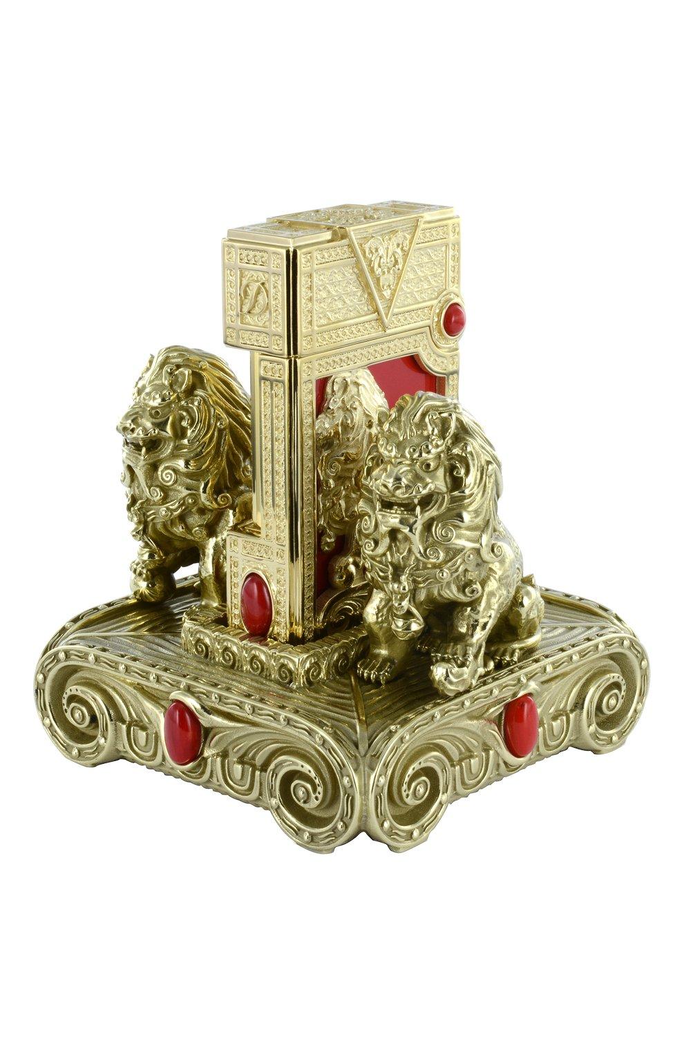 "Мужского зажигалка на подставке ""lion exclusive"" S.T. DUPONT бесцветного цвета, арт. 16178 | Фото 1"