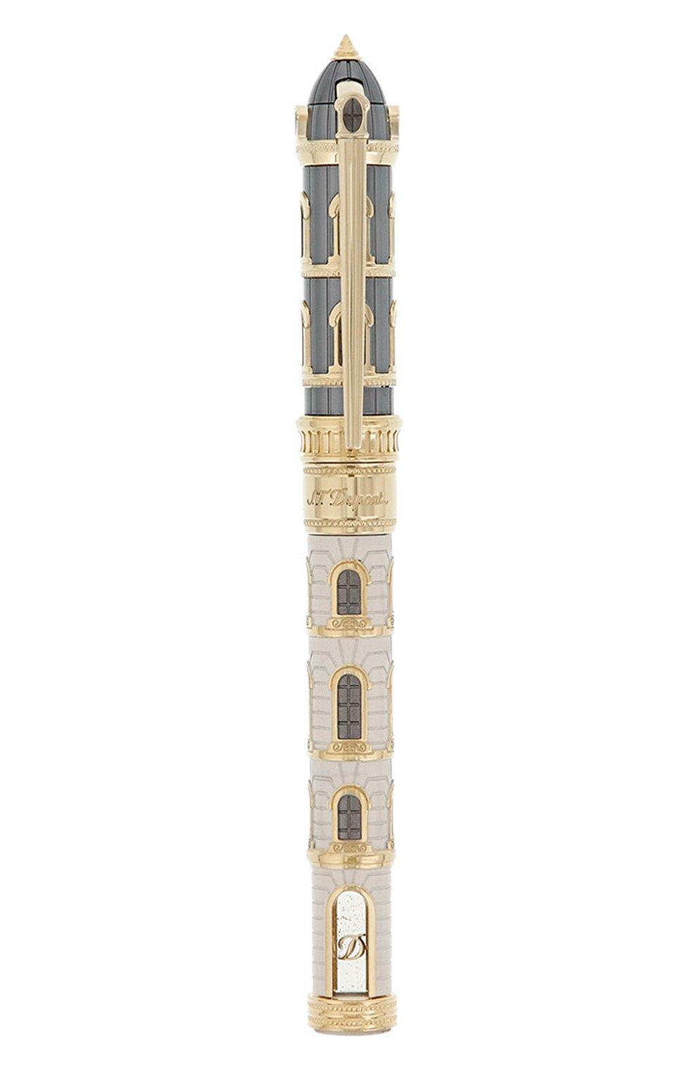 Мужского перьевая ручка на подставке S.T. DUPONT бесцветного цвета, арт. 241610 | Фото 2