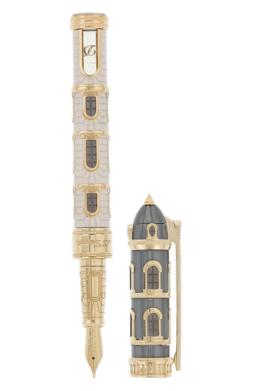 Мужского перьевая ручка на подставке S.T. DUPONT бесцветного цвета, арт. 241610 | Фото 3