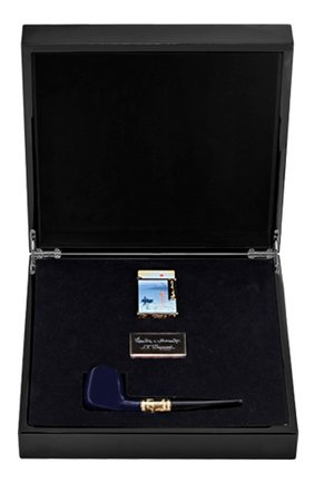 Мужского подарочный набор: зажигалка и курительная трубка S.T. DUPONT бесцветного цвета, арт. 16349C2 | Фото 1 (Драгоценные камни: Без драгоценных камней)