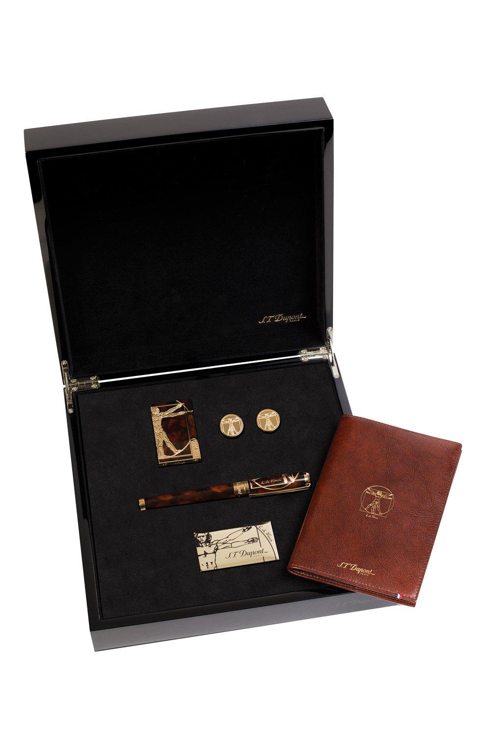"""Мужского подарочный набор """"prestige"""": ручка, зажигалка, запонки, блокнот S.T. DUPONT бесцветного цвета, арт. C3VITRUVIANMAN   Фото 1"""