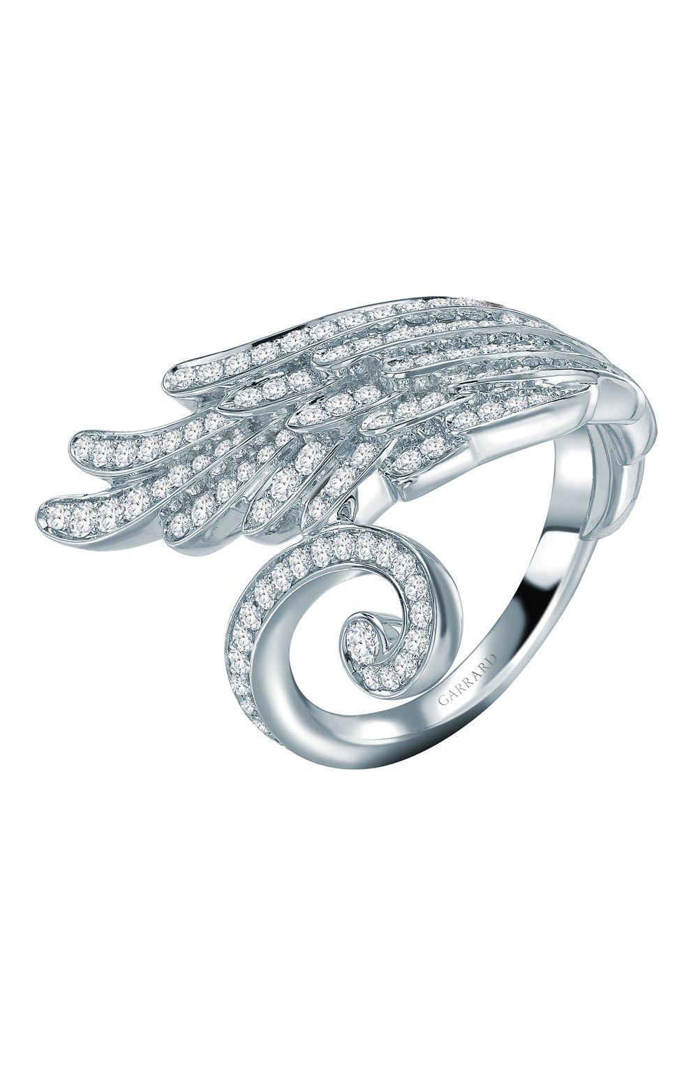 Женские кольцо GARRARD бесцветного цвета, арт. 2015756 | Фото 1 (Материал сплава: Белое золото; Драгоценные камни: Бриллианты)