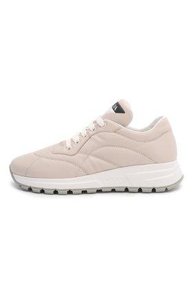 Женские кожаные кроссовки PRADA розового цвета, арт. 1E245L-Y5A-F0D91-45   Фото 2