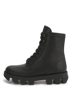 Женские кожаные ботинки PRADA черного цвета, арт. 1T012M-3L1P-F0002-45   Фото 2