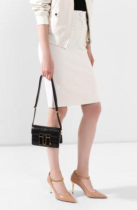 Женская сумка из кожи аллигатора TOM FORD черного цвета, арт. L1261E-EAL001/AMIS   Фото 2