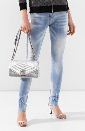 Женская сумка PHILIPP PLEIN серебряного цвета, арт. P20A WBA1220 PLE053N | Фото 2