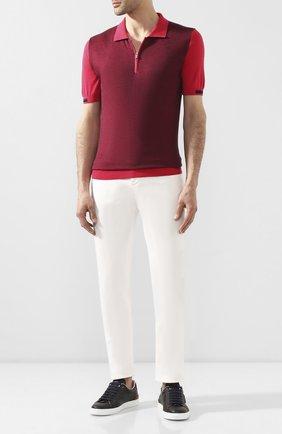Мужское хлопковое поло KITON красного цвета, арт. UK1039 | Фото 2