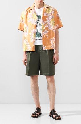 Мужские хлопковые шорты JACQUEMUS хаки цвета, арт. 205PA07/02570 | Фото 2