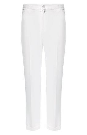 Мужской льняные брюки KITON белого цвета, арт. UFPLACJ07S40 | Фото 1