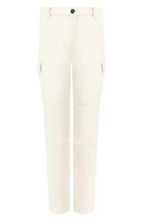 Мужские брюки-карго изо льна и хлопка BRUNELLO CUCINELLI белого цвета, арт. M278DS2160 | Фото 1
