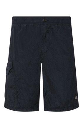 Детского плавки-шорты STONE ISLAND темно-синего цвета, арт. 7215B0343 | Фото 1