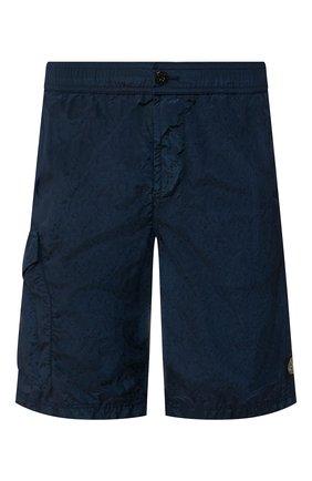 Детского плавки-шорты STONE ISLAND синего цвета, арт. 7215B0343 | Фото 1