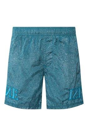 Детского плавки-шорты STONE ISLAND бирюзового цвета, арт. 7215B0444 | Фото 1