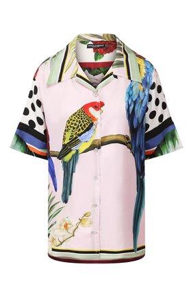 Женская шелковая рубашка DOLCE & GABBANA сиреневого цвета, арт. F5N29T/GDV20   Фото 1