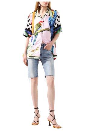 Женская шелковая рубашка DOLCE & GABBANA сиреневого цвета, арт. F5N29T/GDV20   Фото 2