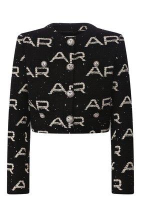Женский жакет ALESSANDRA RICH черно-белого цвета, арт. FAB2014-F2786 | Фото 1