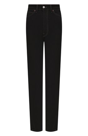 Женские джинсы ACNE STUDIOS черного цвета, арт. A00099/W | Фото 1 (Длина (брюки, джинсы): Стандартные; Материал внешний: Хлопок; Кросс-КТ: Деним; Стили: Кэжуэл)