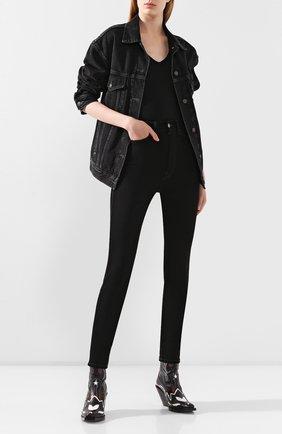 Женские джинсы ACNE STUDIOS черного цвета, арт. A00099/W | Фото 2