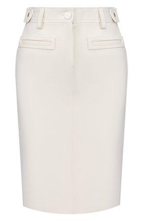 Женская шерстяная юбка TOM FORD белого цвета, арт. GC5508-FAX236   Фото 1