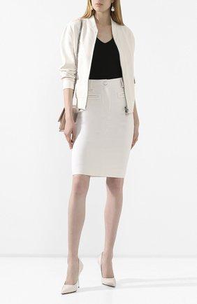 Женская шерстяная юбка TOM FORD белого цвета, арт. GC5508-FAX236   Фото 2