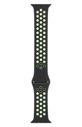 Мужской ремешок для apple watch 44mm nike sport band (regular) APPLE черного цвета, арт. MXR02ZM/A | Фото 1